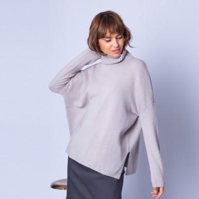Loose-fit, roll-neck, cashmere jumper - Georgette