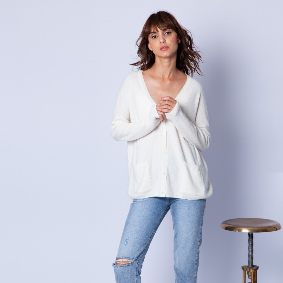 Loose-fit, cashmere cardigan — Gaby