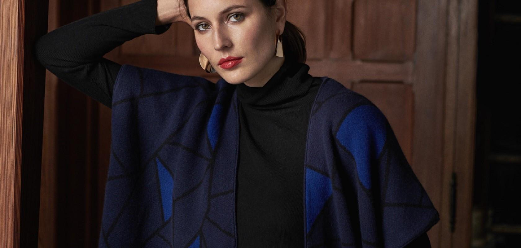clothing woman woolen cardigan Maison Montagut