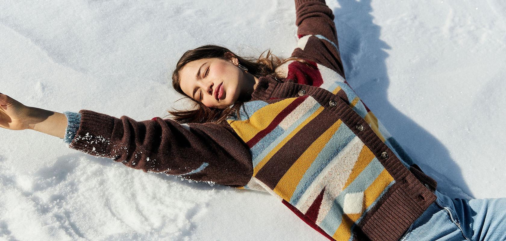 clothing woman cashmere sweater Maison Montagut