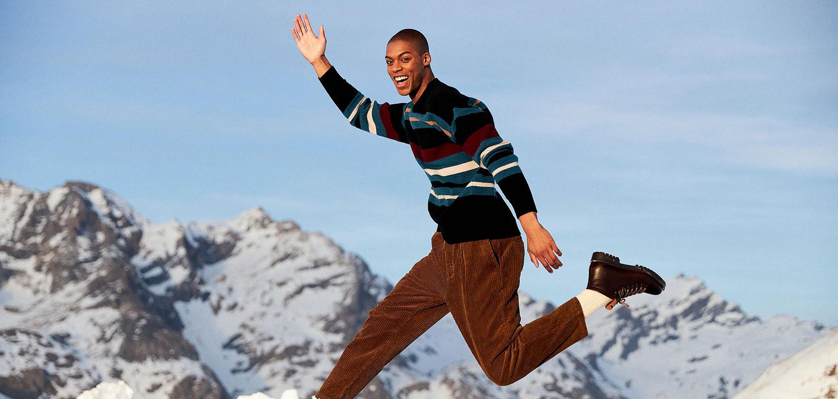 clothing cashmere sweaters man Maison Montagut