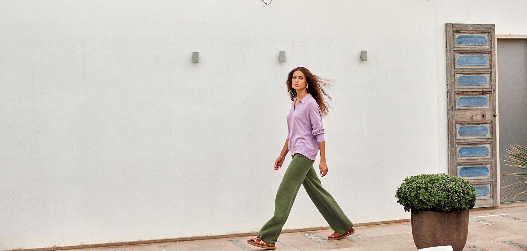 vêtements pantalons femme Maison Montagut