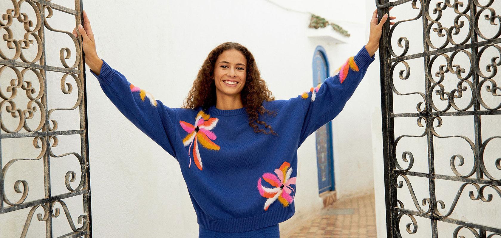 clothing women's round neck sweaters Maison Montagut