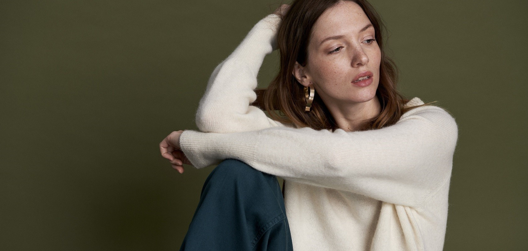 clothing women's v-neck sweaters Maison Montagut